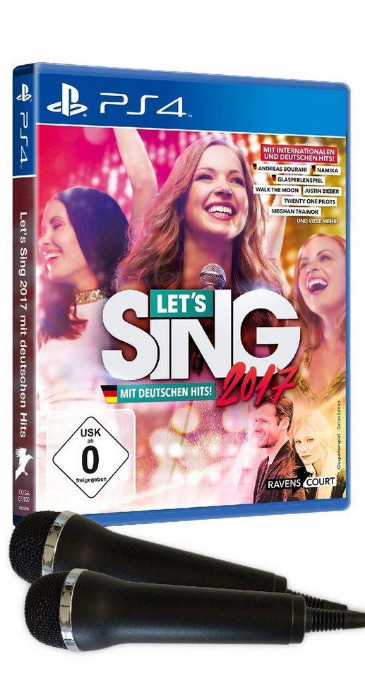 Koch Media Let's Sing 2017 inklusive Deutschen Hits (+2 Mikros) »(PS4)«