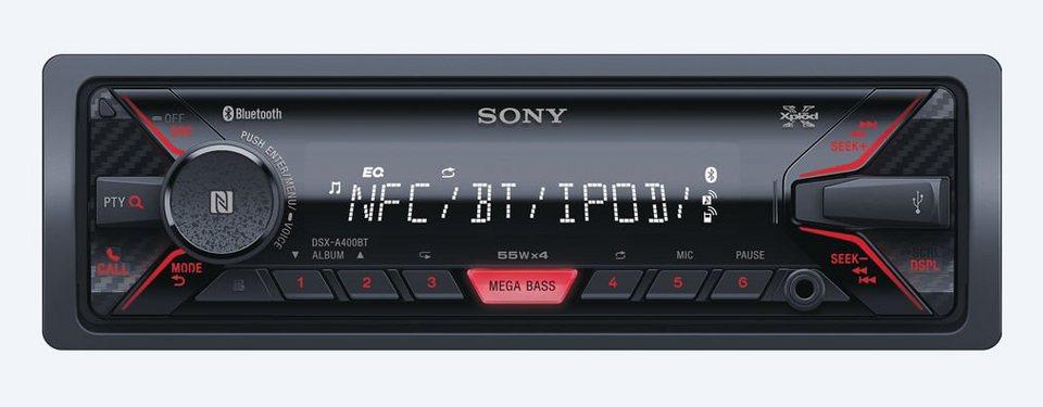 Sony 1-DIN Digital Receiver »DSX-A400BT« in schwarz