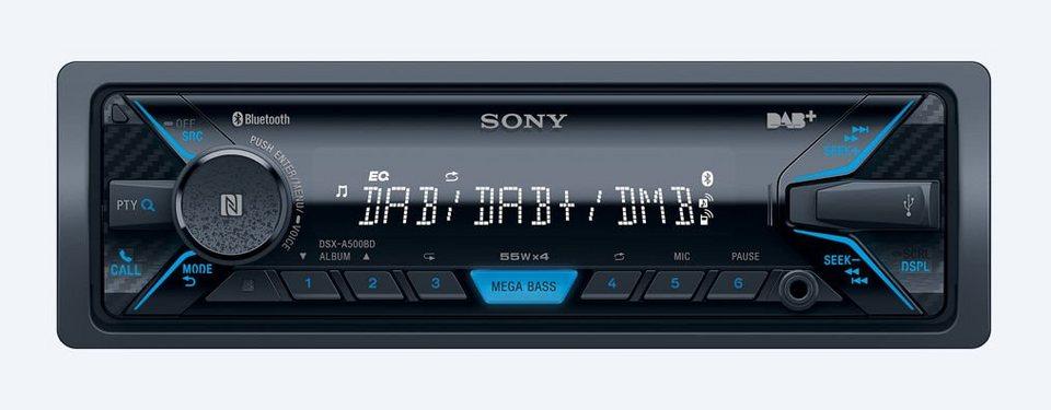 Sony 1-DIN Autoradio »DSX-A500BD« in schwarz