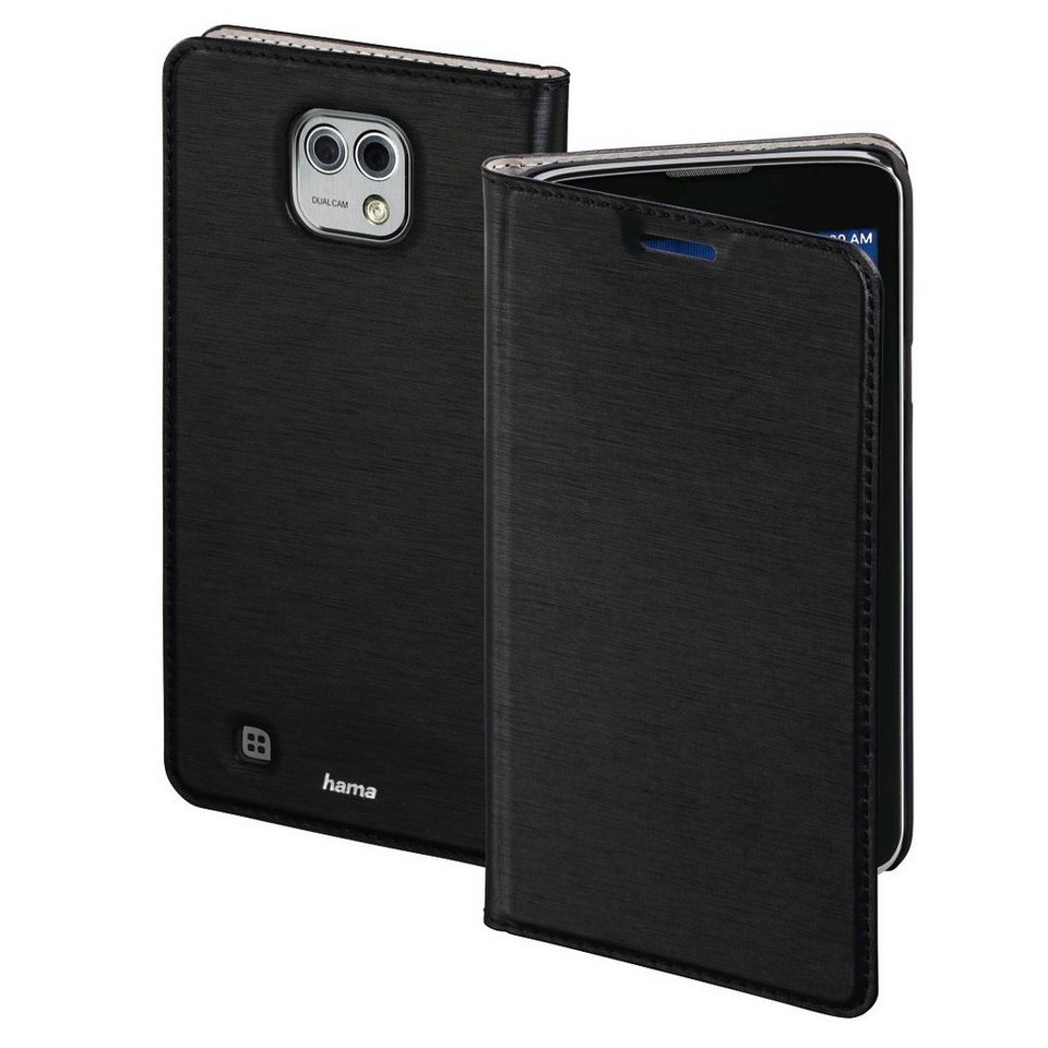 Hama Booklet Slim für LG X Cam, Schwarz in Schwarz