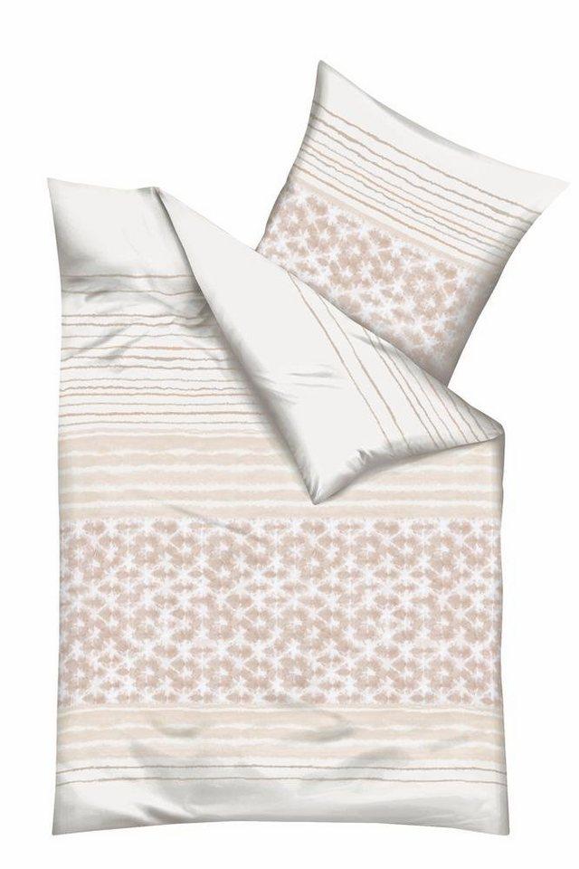 Bettwäsche, Kaeppel, »Shades«, mit schmückendem Muster in creme