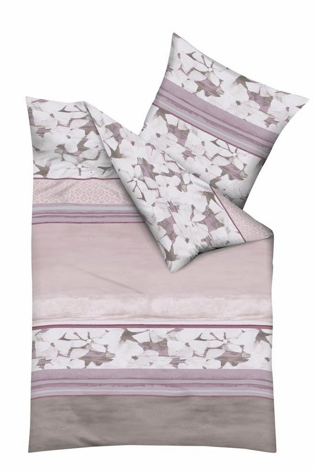 Bettwäsche, Kaeppel, »Jane«, mit Blüten verziert in rosé