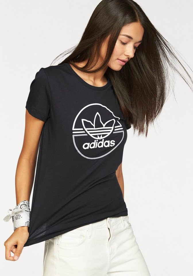 adidas Originals T-Shirt »T-SHIRT« in schwarz