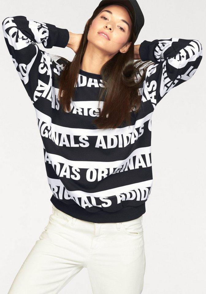 adidas Originals Sweatshirt »TREFOIL SWEATSHIRT« in schwarz-weiß