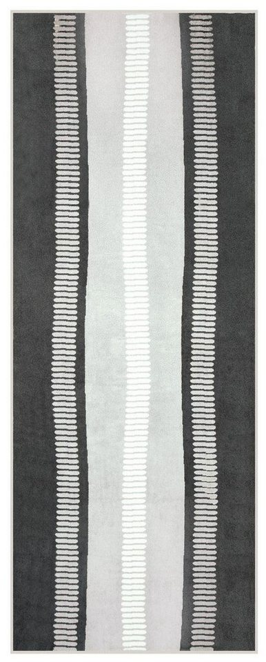 Saunatuch, Egeria, »Calm«, mit kleinen Strichen in anthrazit-grau