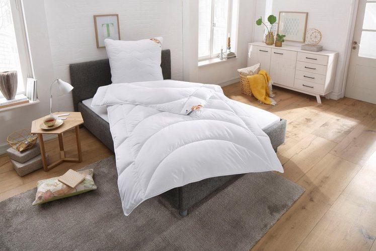 Bettdecke + Kopfkissen, »Microlux Baumwolle«, Traumecht, normal, Material Füllung: Kunstfaser, (Set)