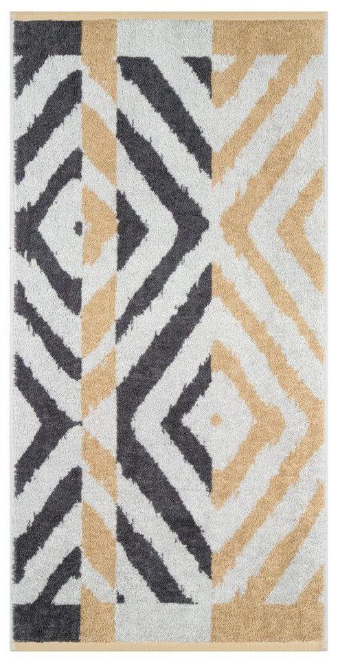 Badetuch, Egeria, »Marlie«, mit Rauten Muster in grau