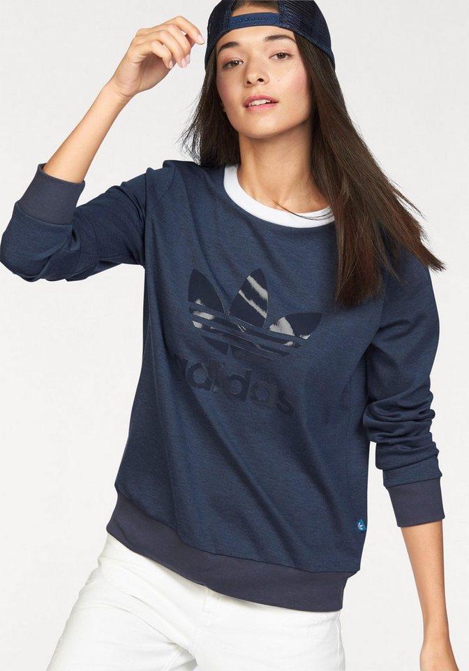 adidas Originals Sweatshirt »TREFOIL CREW SWEATER« in marine