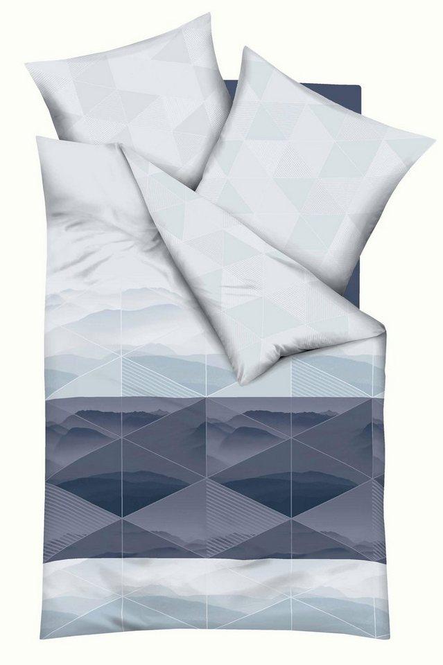 Bettwäsche, Kaeppel, »Perspective«, mit grafischem Muster in hellblau