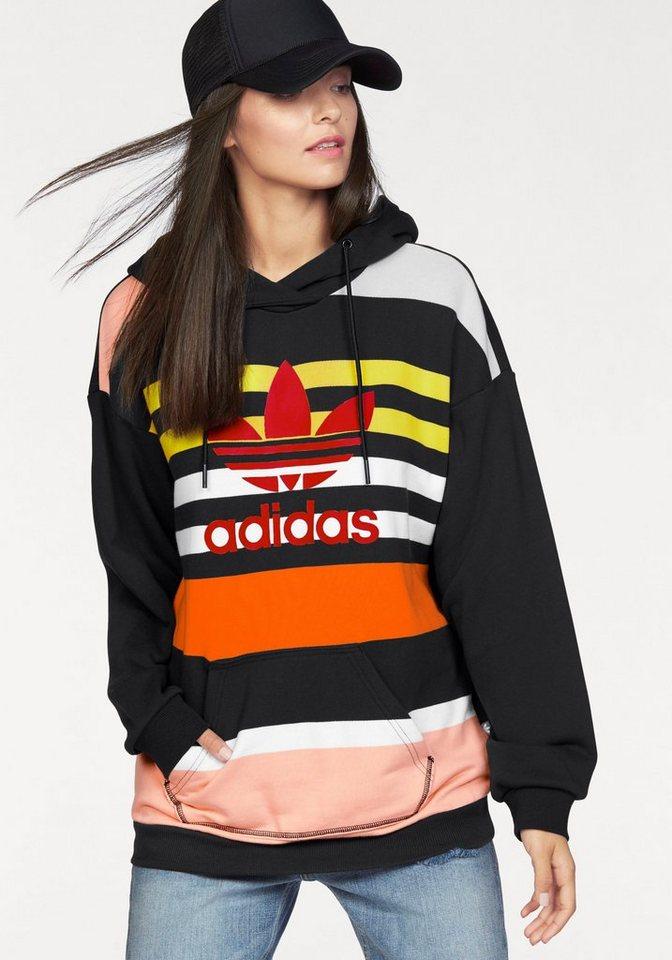 adidas Originals Kapuzensweatshirt »TREFOIL HOODIE« in schwarz-bunt