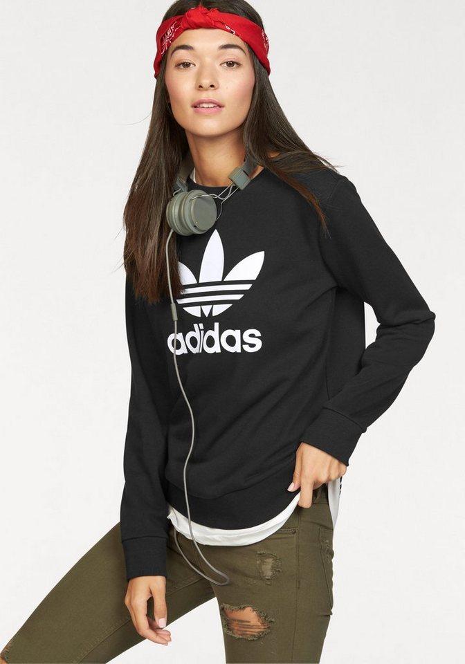 adidas Originals Sweatshirt »TREFOIL CREW SWEATER« in schwarz