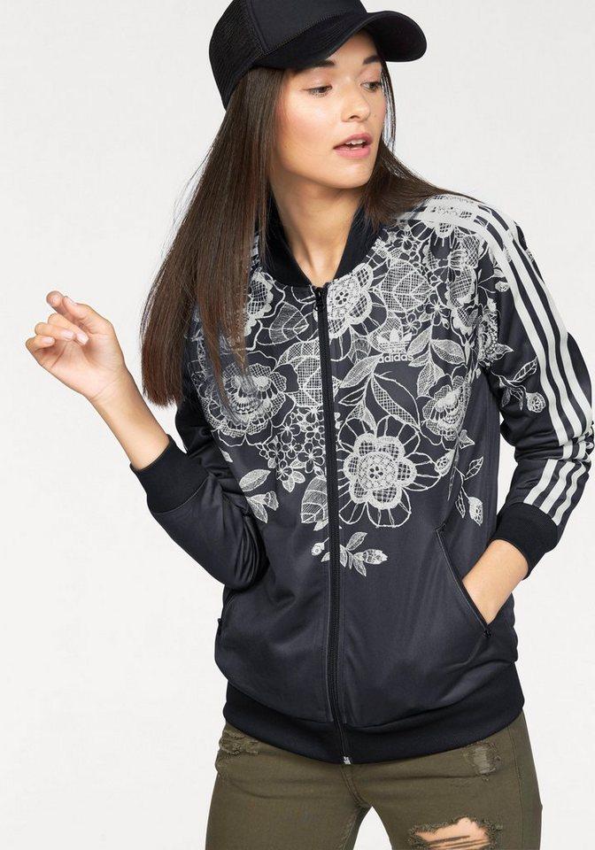 adidas Originals Sweatjacke »FLORIDO SST TT« in schwarz-offwhite