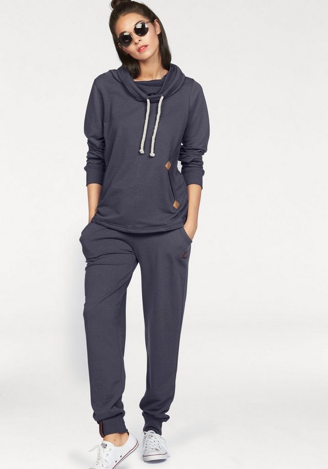 ocean sportswear -  Jogginganzug (Set, 2-tlg), mit Lederimitat-Details