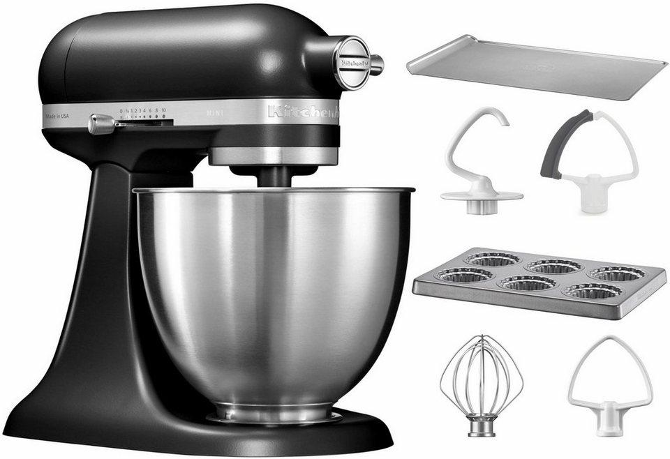 KitchenAid® Küchenmaschine Mini 5KSM3311XEBM, mit Sonderzubehör im Wert von 106,-€ UVP in matt schwarz