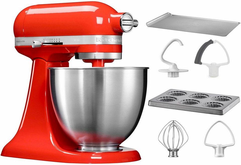 KitchenAid® Küchenmaschine Mini 5KSM3311XEHT, mit Sonderzubehör im Wert von 106,-€ UVP in rot