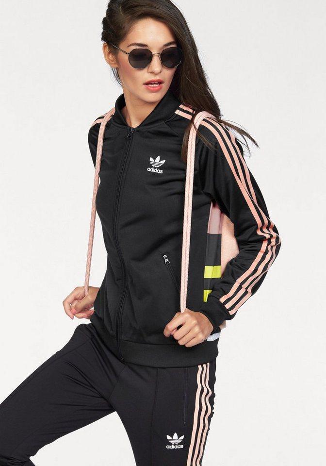adidas Originals Trainingsjacke »SST TT« in schwarz