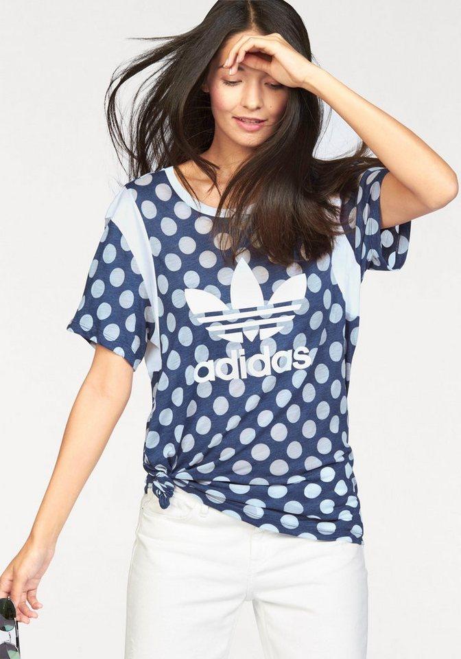 adidas Originals T-Shirt »BF TREFOIL TEE« in blau-weiß