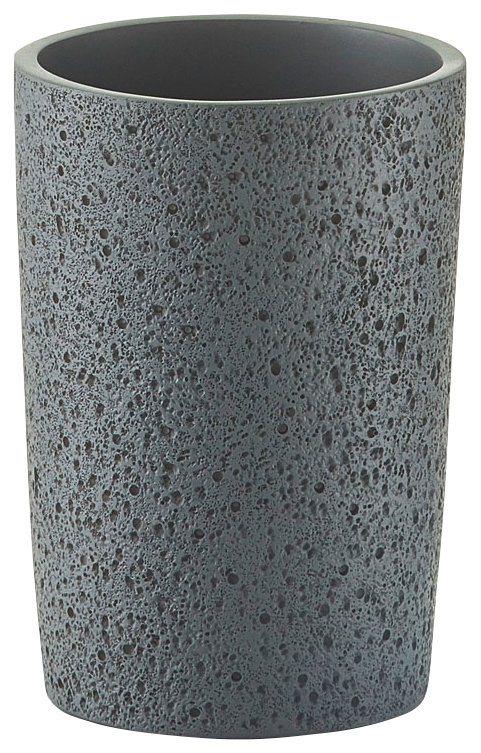 Zahnputzbecher »Beton-Optik« in grau