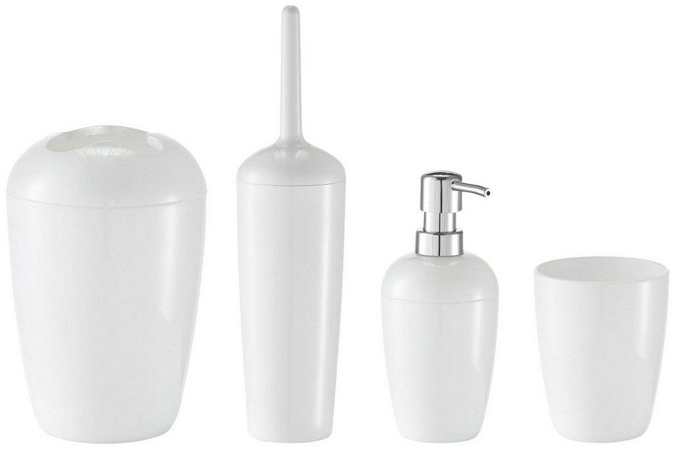 Bad-Accessoire-Set »Weiß«, 4-teilig in weiß