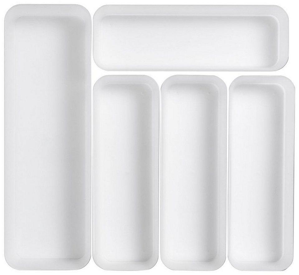 Schubladenelement »Schubladen-Einteiler 5-tlg.« in weiß