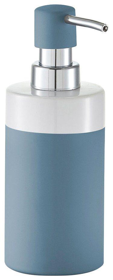 Seifenspender »Rubber« in blau/weiß