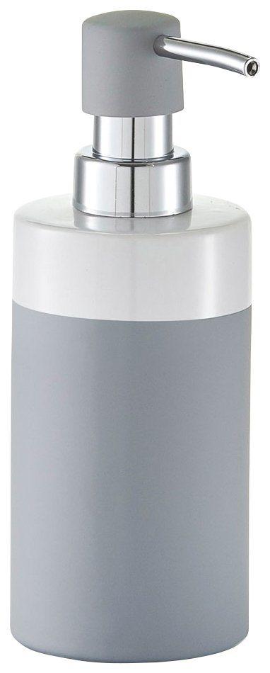 Seifenspender »Rubber« in grau/weiß