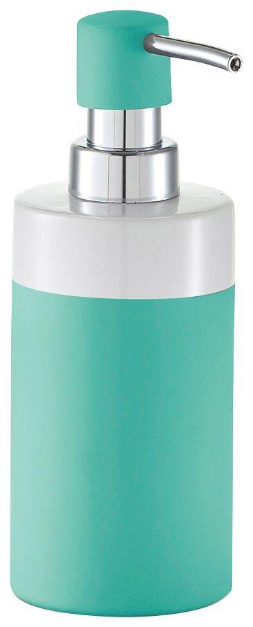 Seifenspender »Rubber« in minzefarben/weiß