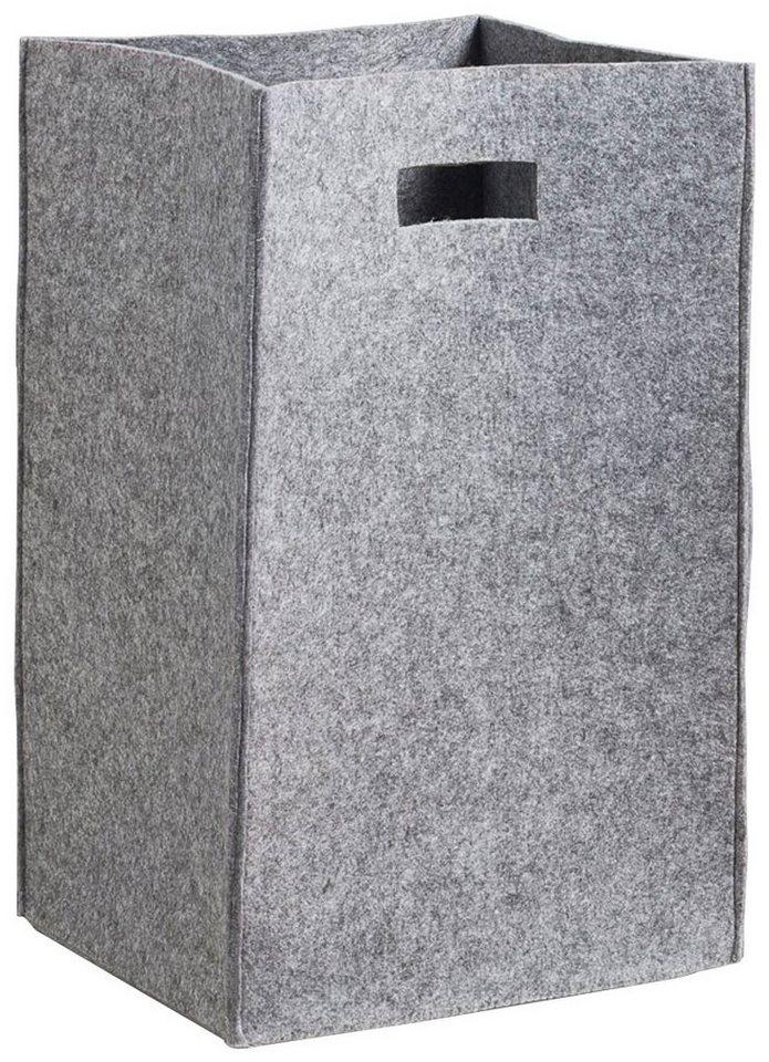 Wäschesammler »Filz« in grau