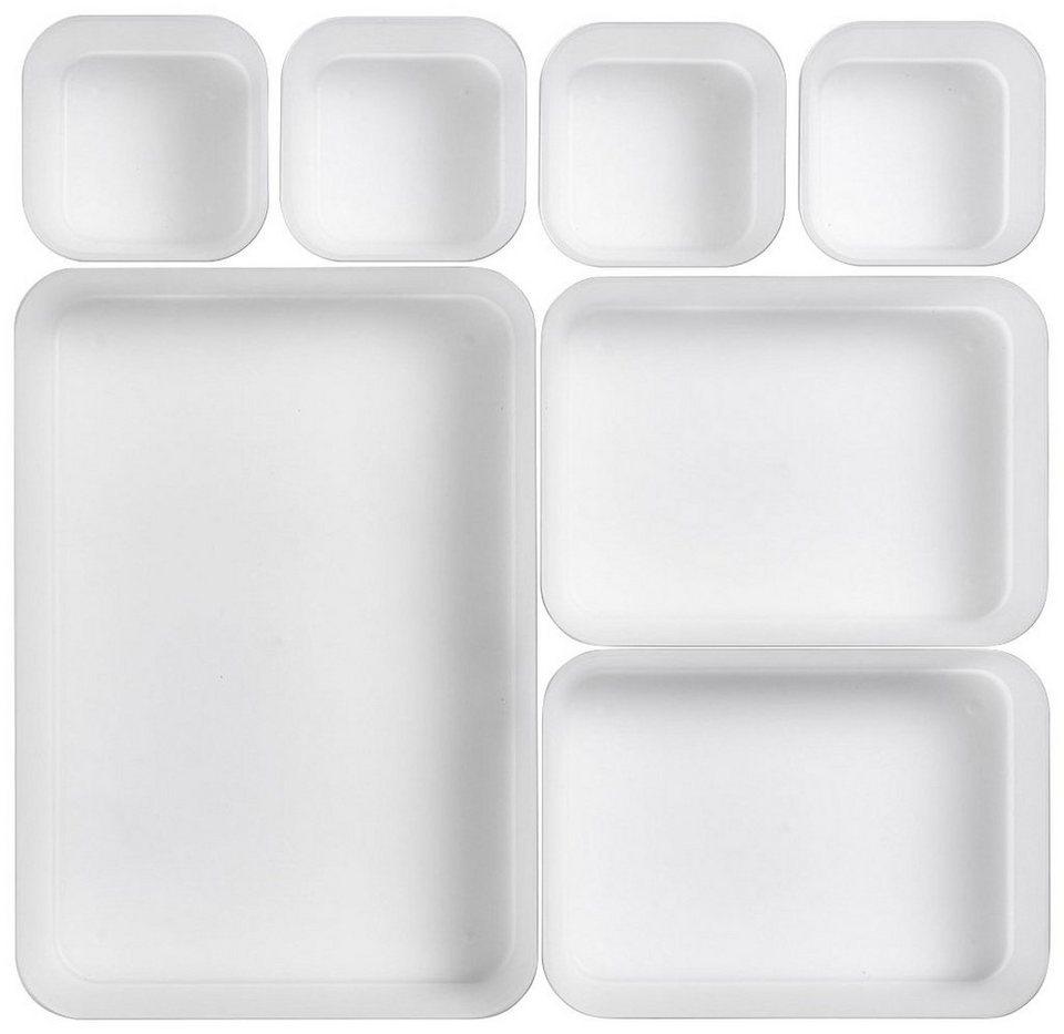 Schubladenelement »Schubladen-Einteiler 7-tlg.« in weiß