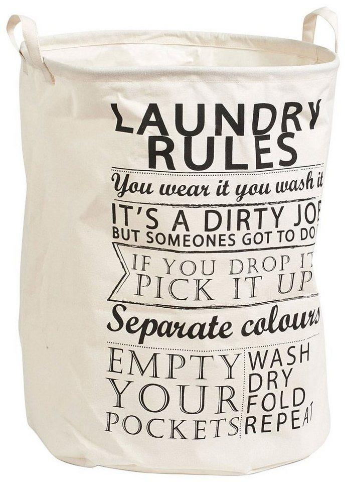 Wäschesammler »Laundry Rules« in beige