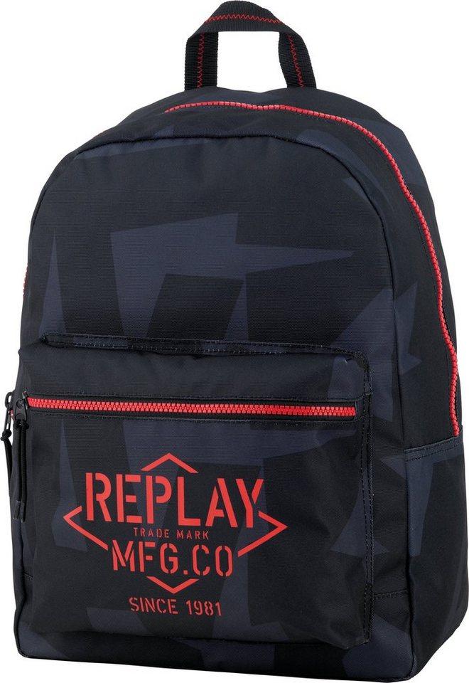 Rucksack, »Replay, Boys Backpack dunkelblau, groß, Vol. 20 Liter«« in dunkelblau