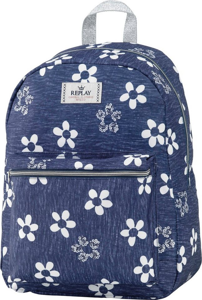 Replay, Rucksack, »Girls Backpack blau, groß, Vol. 20 Liter«« in blau