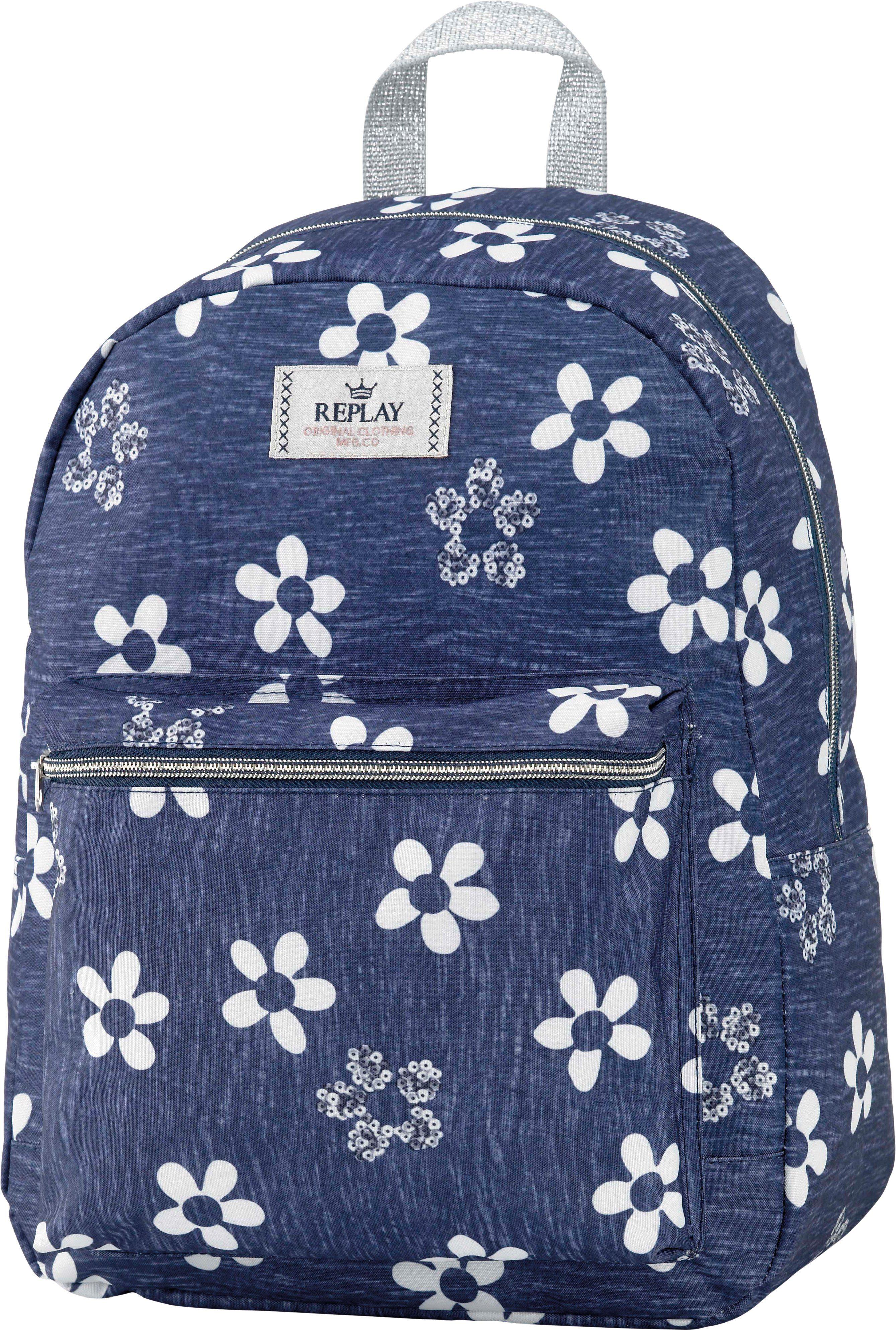 Replay, Rucksack, »Girls Backpack blau, groß, Vol. 20 Liter««