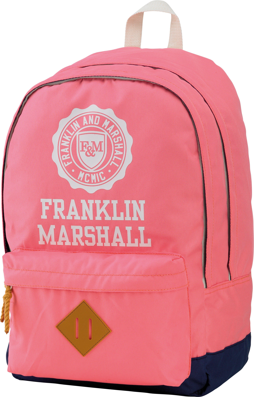 Franklin & Marshall, Rucksack mit gummiertem Bodenschutz, »Girls Backpack rosa, Vol. 23 Liter«