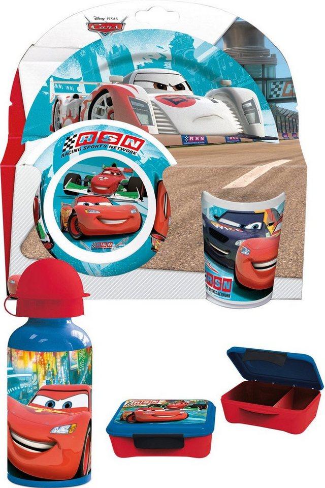 p:os Kindergeschirrset mit Trinkflasche und Brotdose, »Disney Pixar Cars Frühstückspaket Elite«