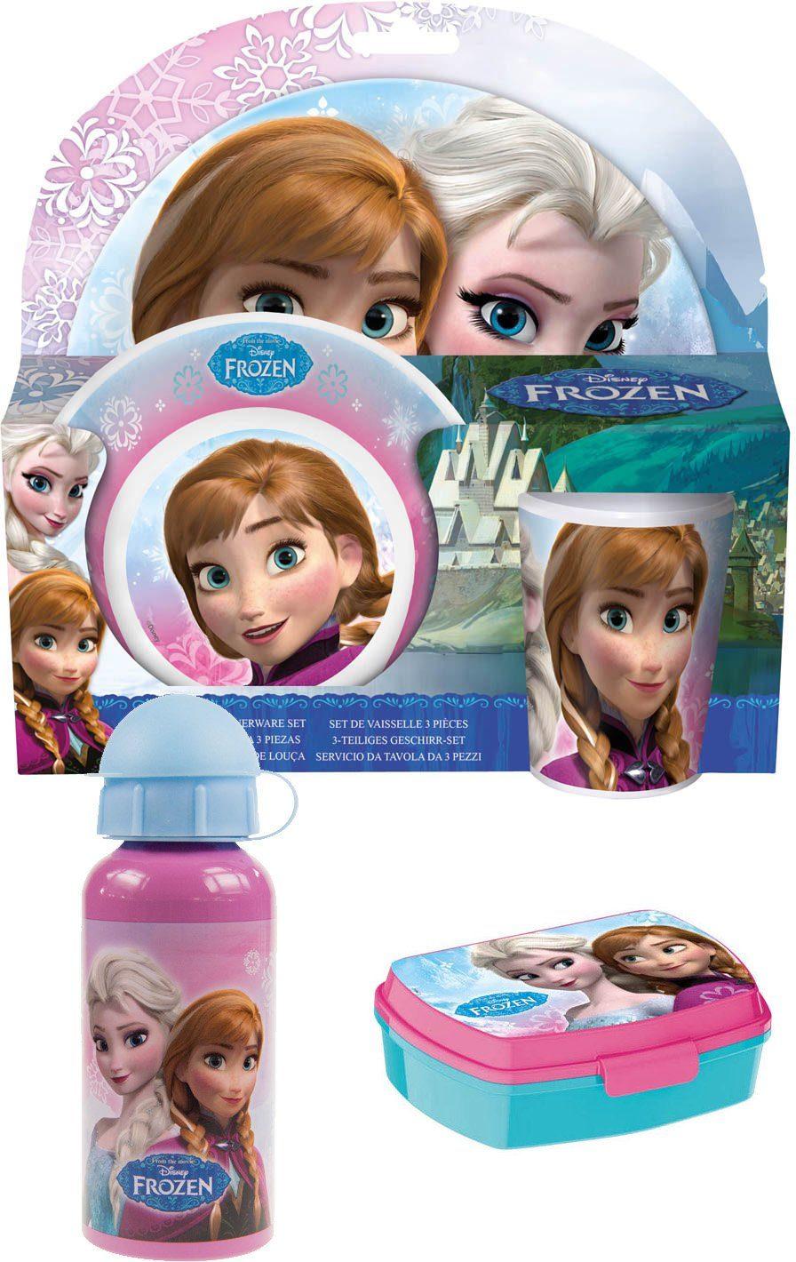 p:os Kindergeschirrset mit Trinkflasche und Brotdose, »Disney Frozen Frühstückspaket Promo«