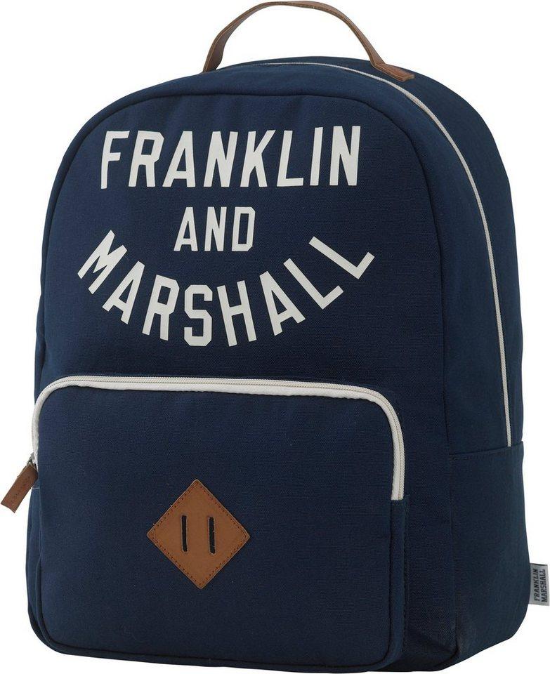 Franklin & Marshall, Rucksack mit gepolstertem Laptopfach, »Boys Backpack, dunkelblau« in dunkelblau