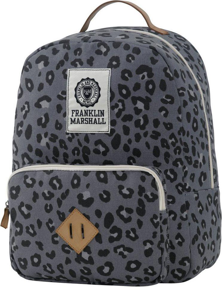 Rucksack mit gepolstertem Laptopfach, »Franklin & Marshall, Girls Backpack, leopard« in leopard