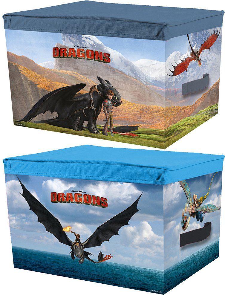 p:os Ordnungsboxen, »DreamWorks Dragons Aufbewahrungsboxen«