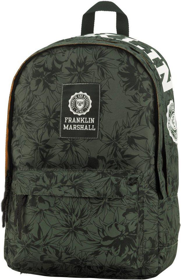 Franklin & Marshall, Rucksack, »Boys Schulrucksack grün/schwarz« in grün/schwarz
