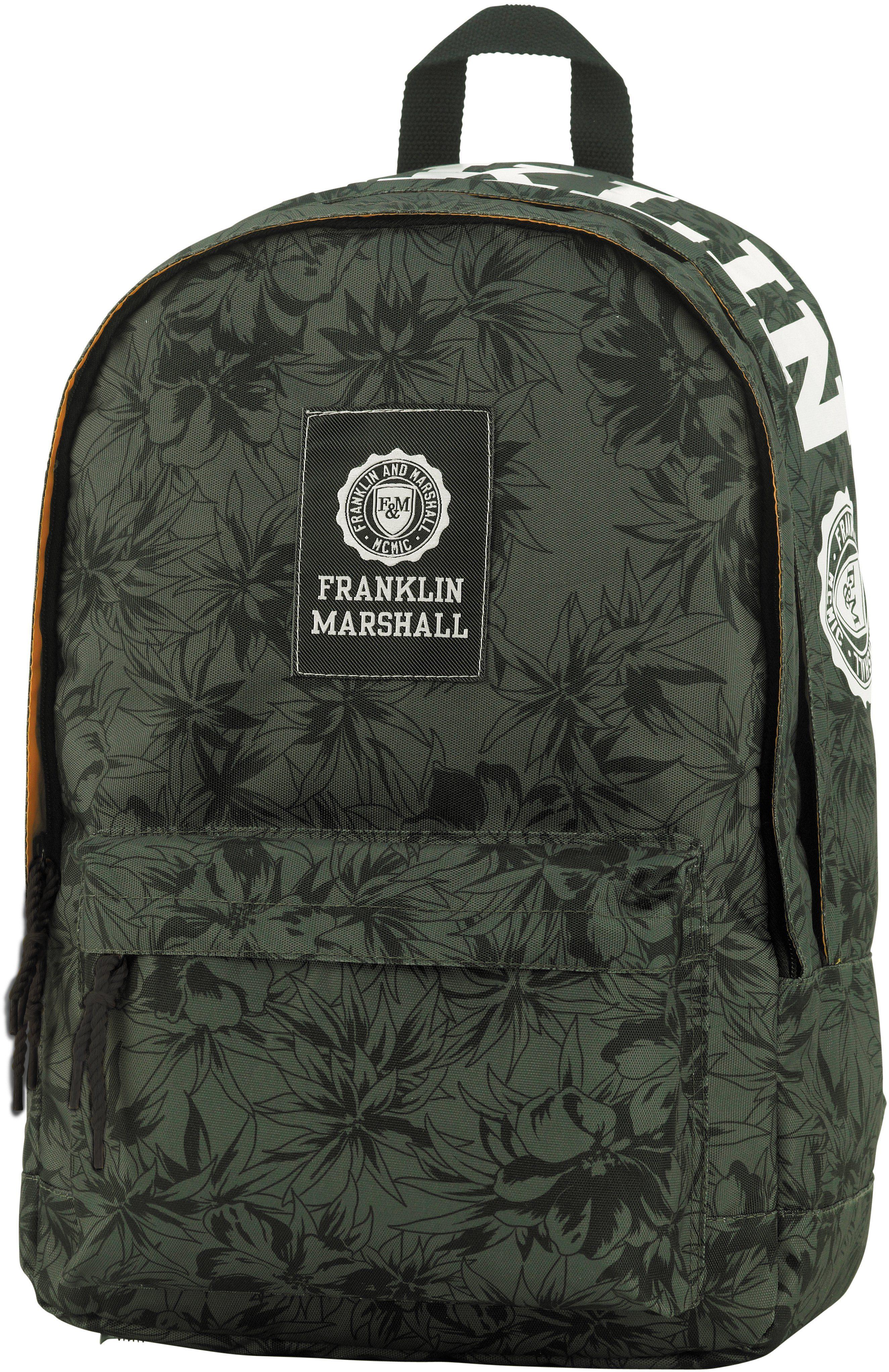 Franklin & Marshall, Rucksack, »Boys Schulrucksack grün/schwarz«