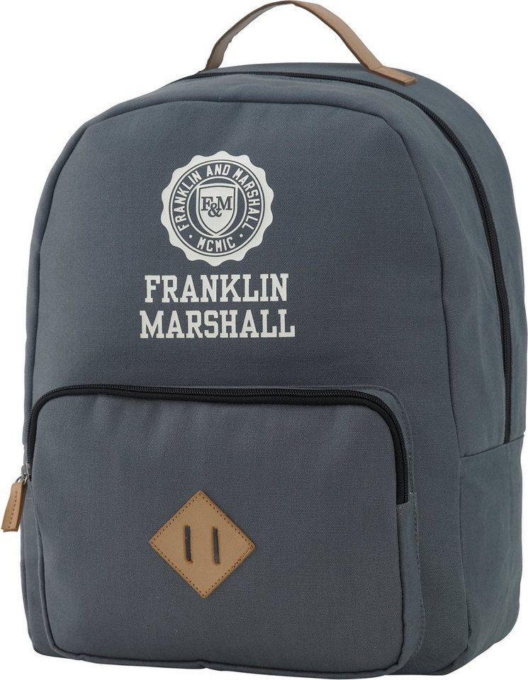 Rucksack mit gepolstertem Laptopfach, »Franklin & Marshall, Boys Backpack, grau« in grau