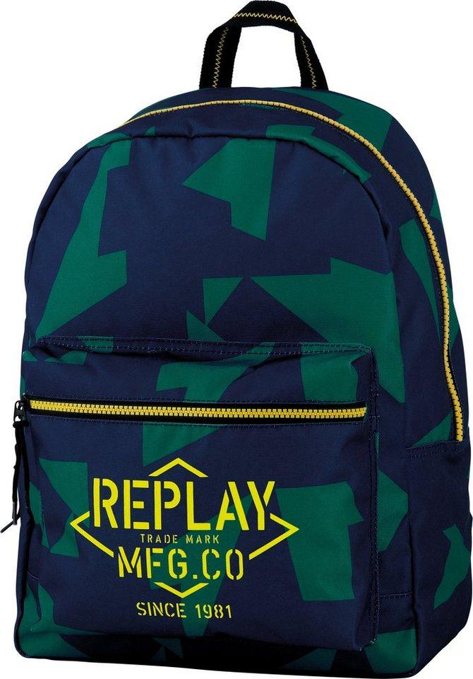 Rucksack, »Replay, Boys Backpack dunkelblau, groß« in dunkelblau