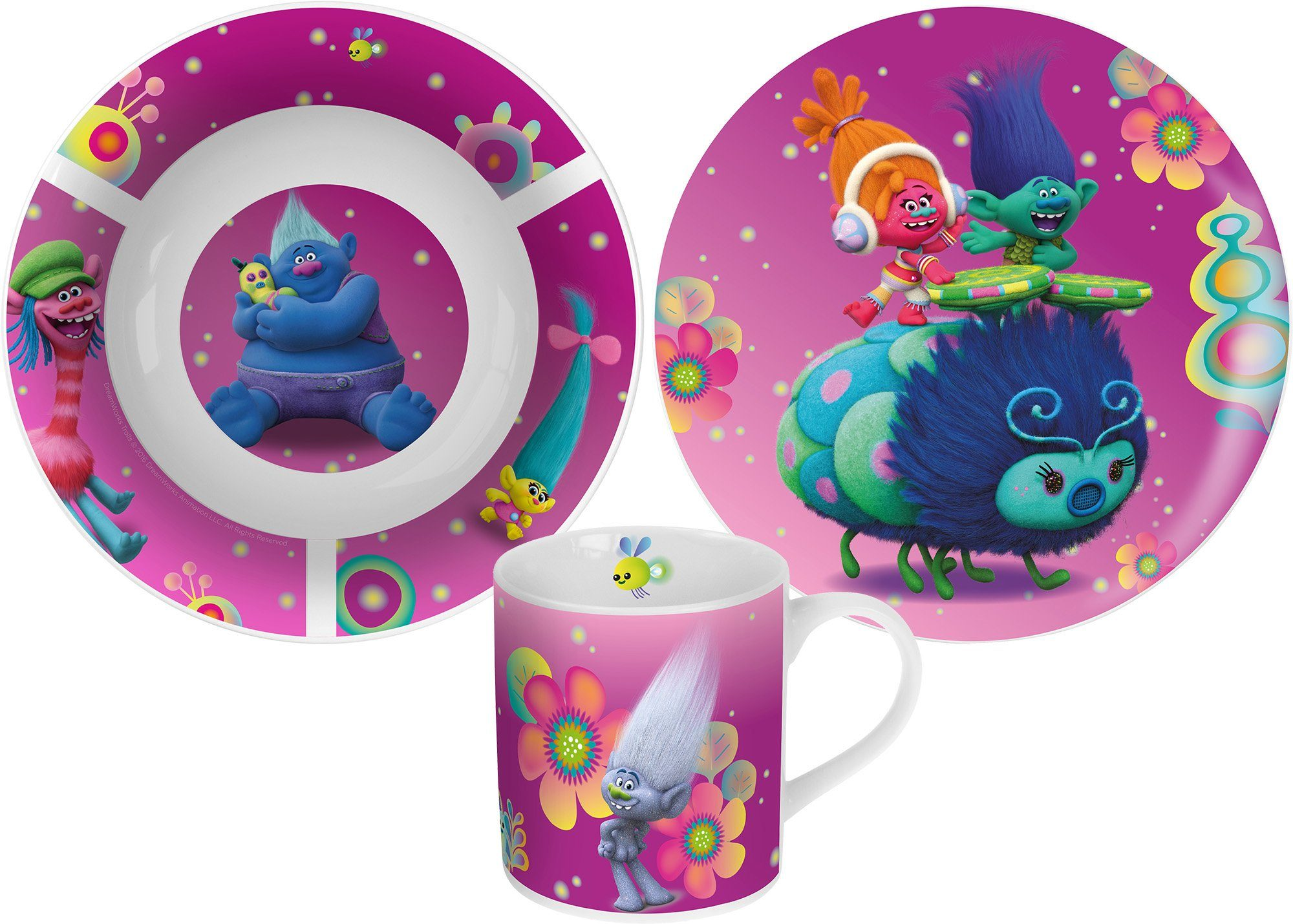 p:os Kindergeschirrset, »DreamWorks Trolls Keramikset«