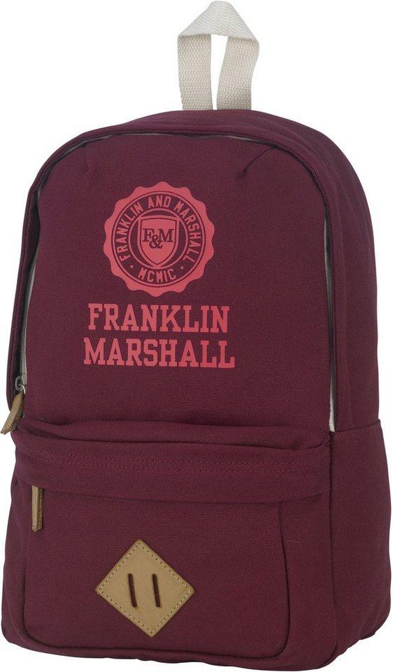 Rucksack, »Franklin & Marshall, Girls Backpack, bordeaux rot« in bordeaux rot