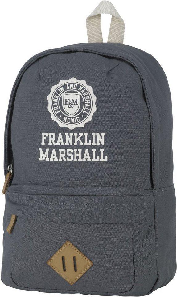 Franklin & Marshall, Rucksack, »Boys Backpack, grau« in grau