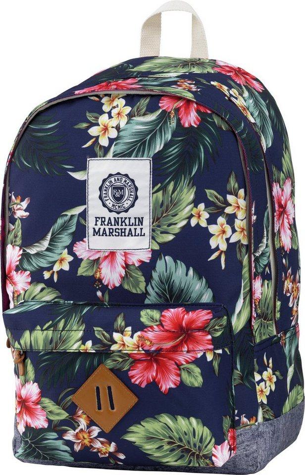 Rucksack mit gummiertem Bodenschutz, »Franklin & Marshall, Girls Backpack blumen, Vol. 23 Liter« in blumen