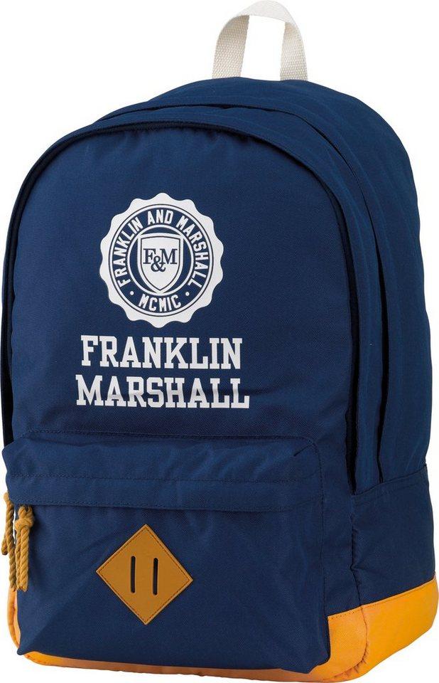 Franklin & Marshall, Rucksack mit gummiertem Bodenschutz, »Boys Backpack dunkelblau« in dunkelblau