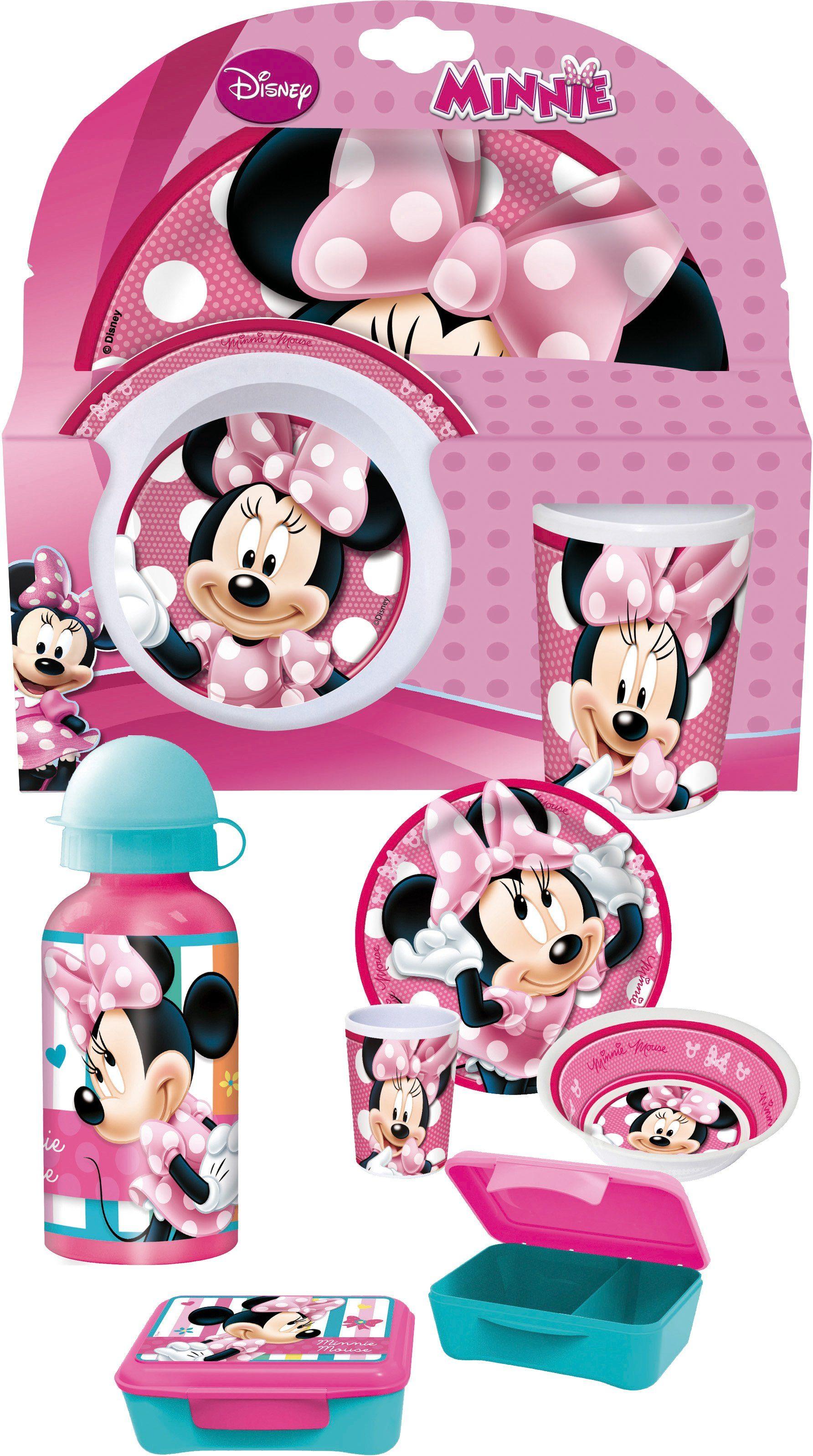 p:os Kindergeschirrset mit Trinkflasche und Brotdose, »Disney Minnie Mouse Frühstückspaket Elite«