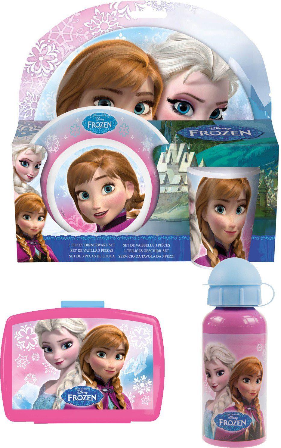 p:os Kindergeschirrset mit Trinkflasche und Brotdose, »Disney Frozen Frühstückspaket Premium«